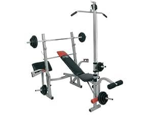 Christopeit banc de musculation basic concept 38 5 kg poids set 7 noir argent 160 x 155 x - Banc de musculation basic ...