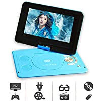 10.2 Inch Portable DVD Player with HDMI In/Output Built-in Rechargeable Battery, Sync Screen, AV Out/in, USB/SD Playback,Direct Play in Formats AVI/MP3/JPEG/RMVB
