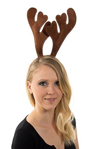 achtsmützen Mütze Nikolausmütze Weihnachtsmütze Santa Plüsch Elch Geweih Braun (Santa-mützen)