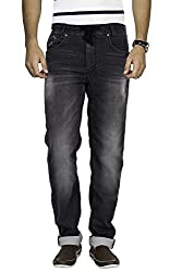 Mufti Mens Black Sports Fit Mid Rise Jeans (38)