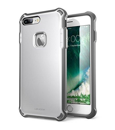 iPhone 7 Plus Hülle, i-Blason Venom Schutzhülle Zweilagig Handyhhülle Hybrid TPU Outdoor Case Cover Stoßfest Schale für Apple iPhone 7 Plus Silber