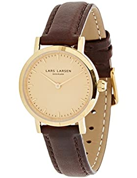 Lars Larsen-Damen-Armbanduhr-Braun Lederband 124GGBLL