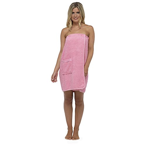 Keanu Damen Handtuch, 100% Baumwolle, sehr saugfähig, Frottee, weich, Sarong-Handtuch, Duschbad, Sauna, Strand, Fitnessstudio, Bademantel, Rose, S/M