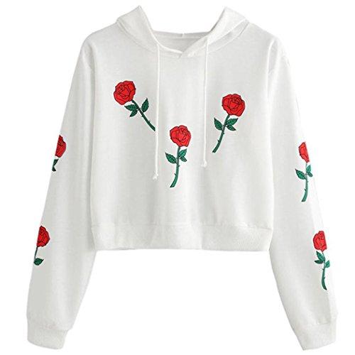 Mädchen Tumblr Kostüm (WOCACHI Damen Sommer T-Shirt Mode Frauen reizvolles Rose Appliques Kurzarm O-Neck Bowknot Dekoration Schwarz Bluse Tops T-Shirt (S/34,)