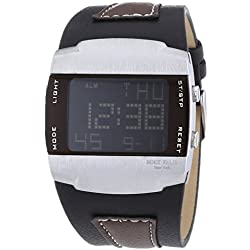 Mike Ellis SL4317 New York Men's Quartz Watch with LCD Digital Quartz Faux Leather