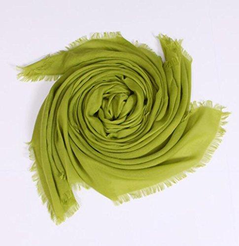 Mme Yang Zi 100% Mode De Fil écharpe Printemps Echarpe Et L'ombre D'été green
