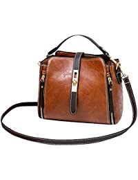 Luckycat Bolsos para mujer Vintage cuero Bolsos de hombro Casual Bolsas de mensajero Bolsos pequeño barato