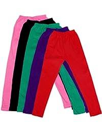 IndiWeaves Kid's Super Soft Cotton Leggings Combo 5