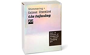 Shimmering & Colour Changing Gin Infusing Kit - Make 15 Bottles of Your own Shimmering and Magically Colour Changing Gin - Amazing Gift for Gin and Cocktail Lovers