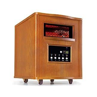 Klarstein Heatbox Calefactor infrarrojo – Aparato portátil , Calefacción con ruedecillas , 1500 W , De 15 a 30 °C , Programable Durante 12 Horas , AntiDryAir Heat , Mando a Distancia , Roble , Marrón