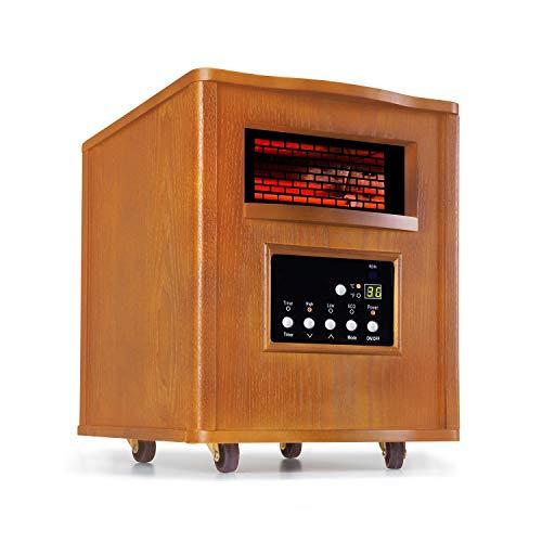 Klarstein Heatbox Calefactor infrarrojo • Aparato portátil • Calefacción con ruedecillas •...