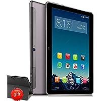 4G LTE Tablet 10 Pollici HD - TOSCIDO W109 Android 9.0 Certificato da Google GMS, Quad-Core,64 GB ROM,4 GB RAM,WiFi/Bluetooth/ GPS,Suono Stereo con Doppio Altoparlante – Grigio