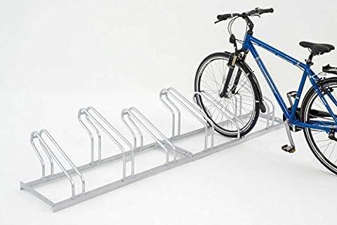 EUROKRAFT Range - vélos – étriers en tube d'acier, entrée 1 côté 6 places - Etrier Support Support cycles Support isolé Support pour bicyclettes Support pour cycles Support pour vélos Montant Montants Support-cycles Supports cycles Supports-cycles