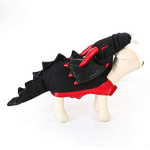 Hunde Kostüm Scooby - XinC Hund lustige Kostüme Halloween Pet Dress Up Monster Kleid Haustier Kleidung Urlaub Kleid Set Monster Kostüme Karneval Geschenk Overall,S