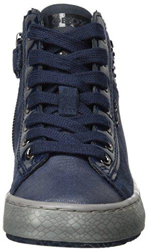 Geox J Kalispera E, Baskets Fille Bleu (Navy)