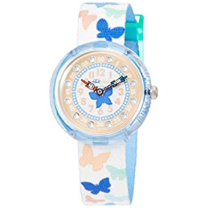 Flik Flak Mädchen Analog Quarz Uhr mit Stoff Armband FBNP099
