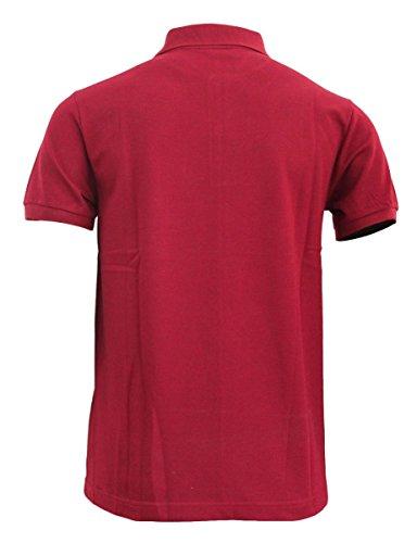 Bcpolo Männer Poloshirt Baumwollpikee beiläufige Kurzarm-Polo-Hemd Kastanienbraun