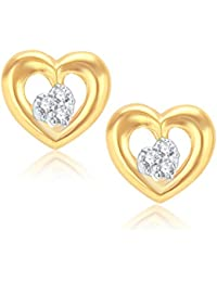 V. K. Jewels Agradable Gold And Rhodium Plated Alloy Earrings for Women & Girls made with Cubic Zirconia -ER1005G [VKER1005G]