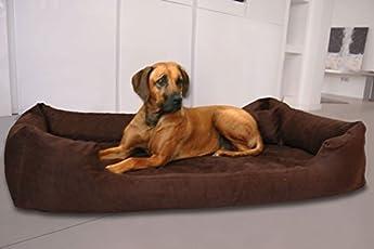 tierlando Orthopädisches Hundebett PLUTO Ortho VISCO Viscoschaum aus weichem Velours