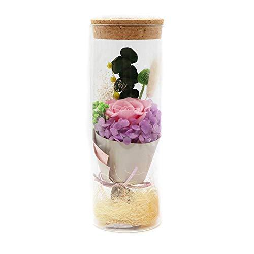 Dastrues LED-Rose, LED-Lampe mit Rosen-Blüten-Rose, Flaschen-Licht mit Fernbedienung, Rose, für Zuhause, Party, Dekoration, Geschenk für Geburtstag, Weihnachten, Halloween, Rosa