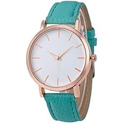 WINWINTOM Leather Analog Quartz Wrist Watch Sky Blue