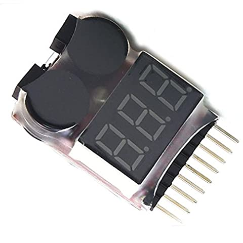 Vococal® 1-8 LED Basse Tension Buzzer Alarme Lipo Batterie Indicateur Détecteur Checker Testeur de