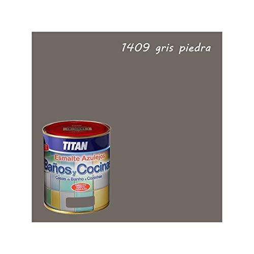 Pintura para azulejos baños y cocinas Titan - 750 mL, Gris Piedra 140
