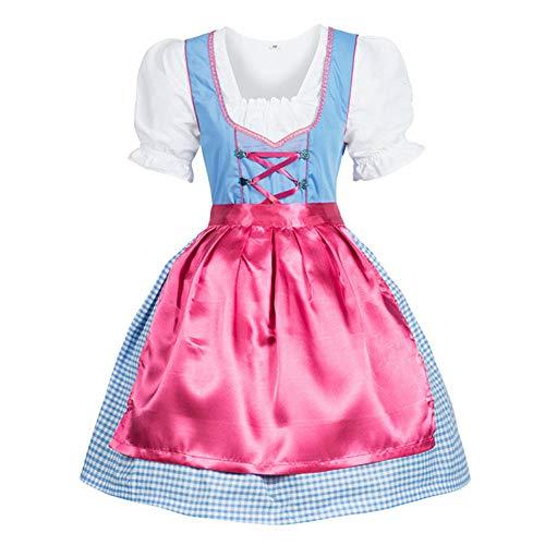 Cuteelf Frauen 3 Stück Kleid Karneval Bayern Oktoberfest Cosplay Kostüm Oktoberfest Maid Kostüm Kleid Bar Leistung Kostüm Maid Cinderella Kostüm Taille schlank sexy kurzen - Daisy Duck Sexy Kostüm