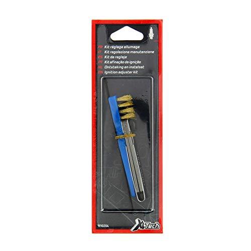 XL TECH Kit candela spazzola/lima/spessim