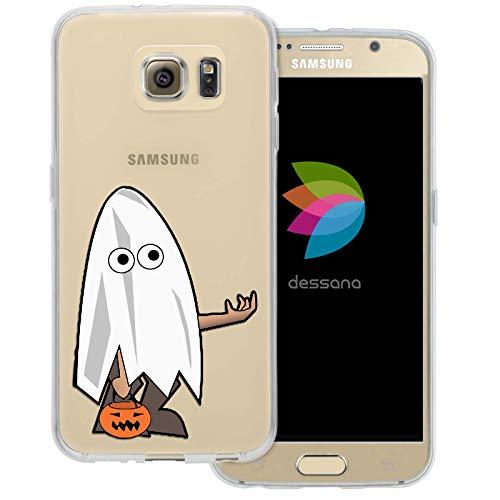 dessana Halloween Muster Transparente Schutzhülle Handy Case Cover Tasche für Samsung Galaxy S6 Halloween Gespenst