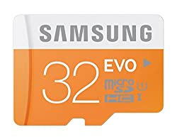 Samsung EVO Class 10 32GB MicroSDHC 48 MB/S Memory Card with SD Adapter (MB-MP32DA)