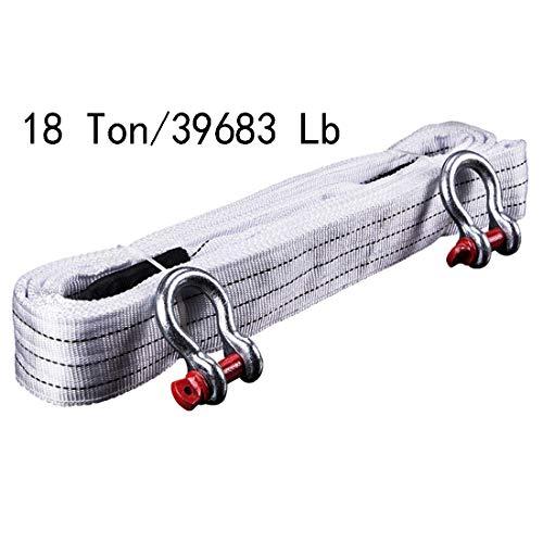 Bibetter Abschleppseil, hohe Festigkeit, 5 Maters 18 Tonnen, mit Zwei Sicherheitshaken und reflektierendem Streifen, für die Straßenrettung