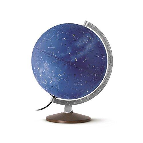 Preisvergleich Produktbild HL 3010 Himmelsglobus: HL 3010 Doppelbild-Leuchtglobus mit Sternenkarte und symbolischen Sternbildern, 30 cm, Metallmeridian und Holzfuß (Himmel und Planeten)