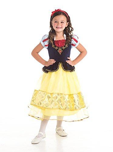 Little Adventures Deluxe Snow White Dress up Kostüm für Mädchen - X-Groß (7-9 ()