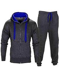 13cdf10fcef NOROZE Homme Contraste Corde Sweat à Capuche Pantalon Gym Survêtement Taille  ...