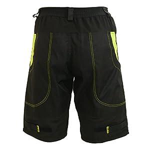Deko Titan MTB Baggy Mountain Bike Shorts with Hi Viz feautres Black