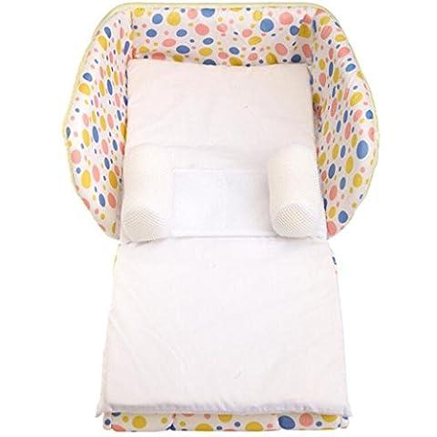 Multifunktions-Babybett Baby-Baumwoll-weiches Bett Klappbett Tragbare Krippe , apricot (Pferd Neugeborene Krippe)