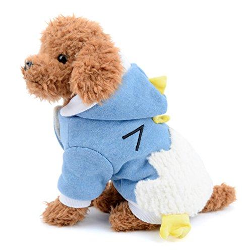 l für kleine Hunde Fleece Hoodies Puppy Halloween/Weihnachts Kostüme Huhn Design Katze Hund Winter Overall Pyjama Outfits Apparel (Cartoon Kostüme Für Verkauf)