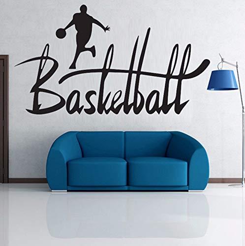(Dalxsh Spielen Basketball Sport Mann Wandaufkleber Kontinuierliche Laufen Korb Wandtattoos Große Schöne Buchstaben Design Kunst Papier31X57 Cm)
