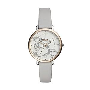 Fossil Damen Analog Quarz Smart Watch Armbanduhr mit Leder Armband ES4377