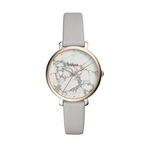 Fossil Damen Analog Quarz Smart Watch Armbanduhr mit Leder Armband ES4377 - Fossil Marmor