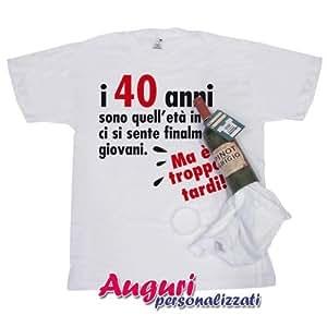 T Shirt In Bottiglia Compleanno 40 Anni Amazonit Giochi E Giocattoli