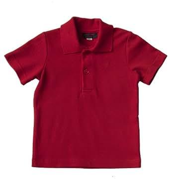 Käthe Kruse Boys Opaque Runder Tab 1/2 Sleeve Polo Shirt -  Red - 3-6 Months