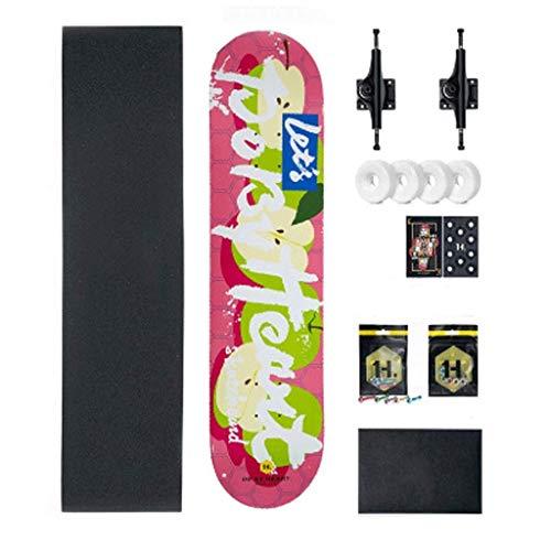 Der Geschmack von zu Hause Bilateral Sloping Board Professionelles Skateboard mit Vier Rädern Anfänger Erwachsene Teen Kinder Jungen und Mädchen Straße (Farbe : C)