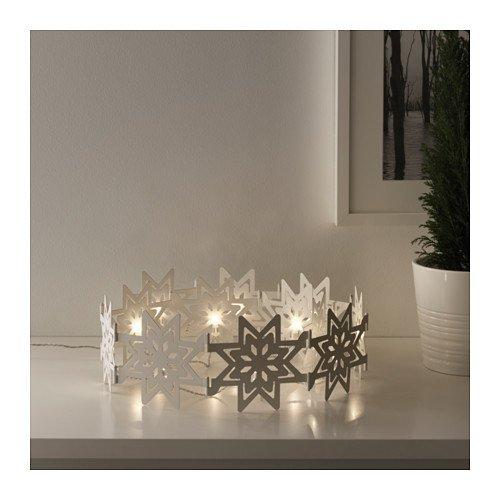 IKEA STRALA LED Tischdekoration Schneeflocken faltbar; Weihnachtsbeleuchtung; 12 Stück