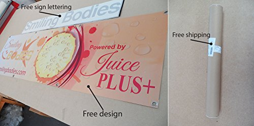 Cheapest PVC BANNER SIGN FULL COLOR CUSTOM FREE DESIGN & FREE LETTERING STICKER on Amazon
