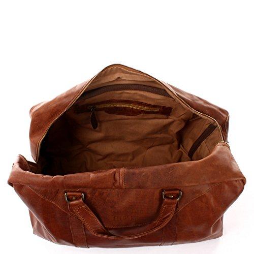 LECONI kleine Reisetasche Ledertasche Weekender Fitnesstasche Handgepäck für Damen und Herren Leder braun 45x25x20cm LE2009 braun
