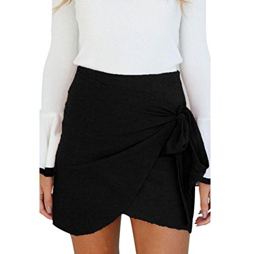 Frühjahr Bedskirt (Kanpola Frauen Rock Party Cocktail Straps Mini Damen Sommer Strand Kleid (XL, Schwarz))