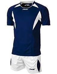 Max Sophia - Conjunto de camiseta y short, para voleibol, para niño u hombre, color blanco/royal Blu Bianco Talla:XS