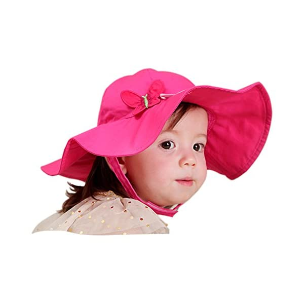Snyemio Sombrero de Sol Niña Bebé Algodón Solar Gorro con Barbijo Verano Anti UV para Viaje Playa Piscina 1